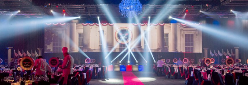 Lighting & Staging Solutions at the Flight Centre EOFY Gala