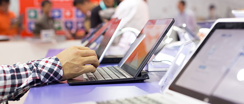 laptops at exhibition