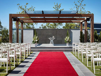 hyatt wedding aisle